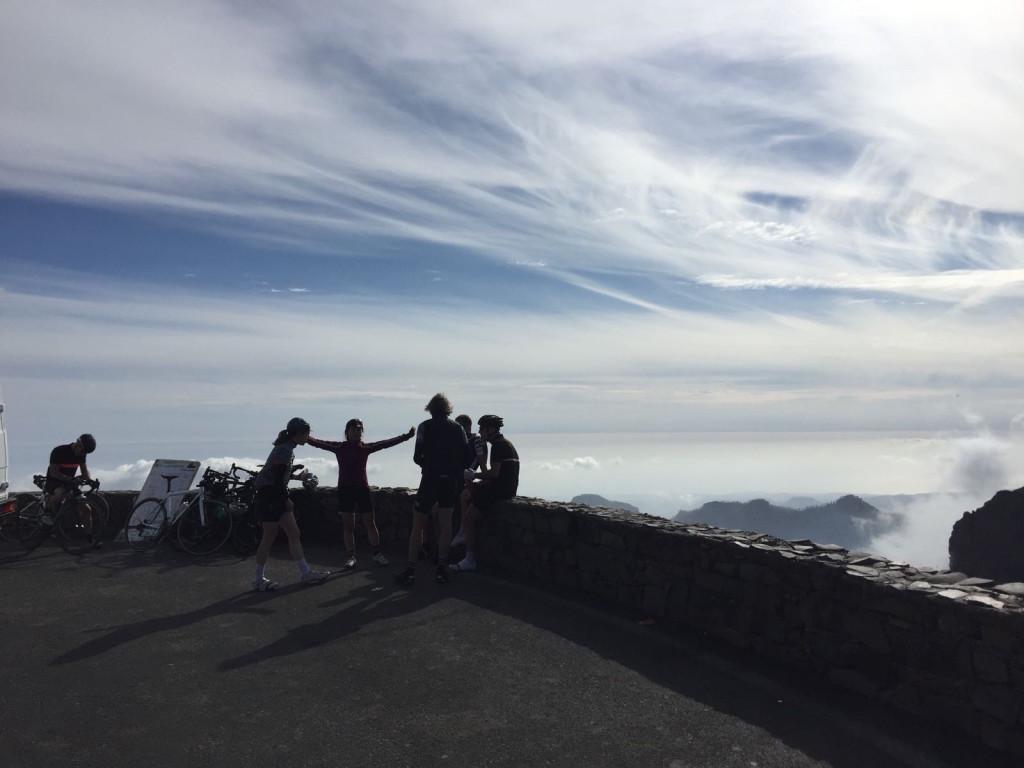 1949mのグランカナリア最高地点ピコ・デ・ラス・ニエヴェスにて。